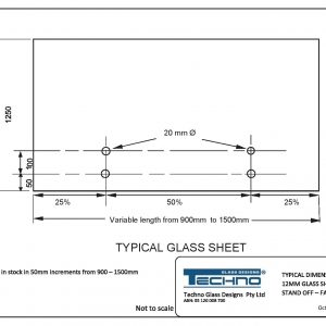 Techno Typical 12mm Glass sheet (TFPP   ) dimensions stand off fixed-page-001
